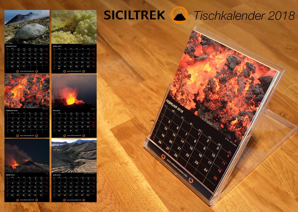SICILTREK Tischkalender 2018